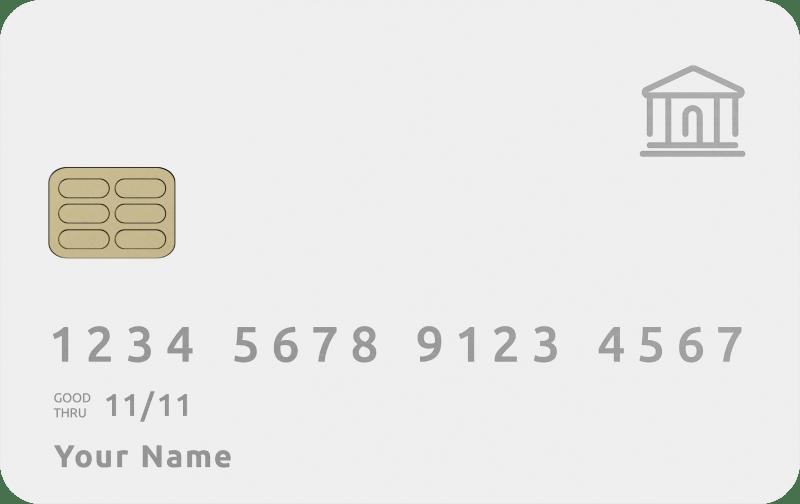 Bank card.